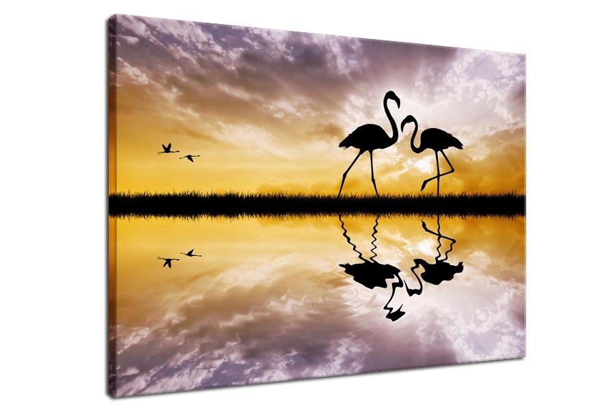 Obraz Flamingi 12080 Tanie Obrazy Naklejki I Fototapety